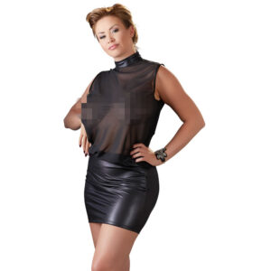 Chiffon og Wetlook Kjole Plus Size