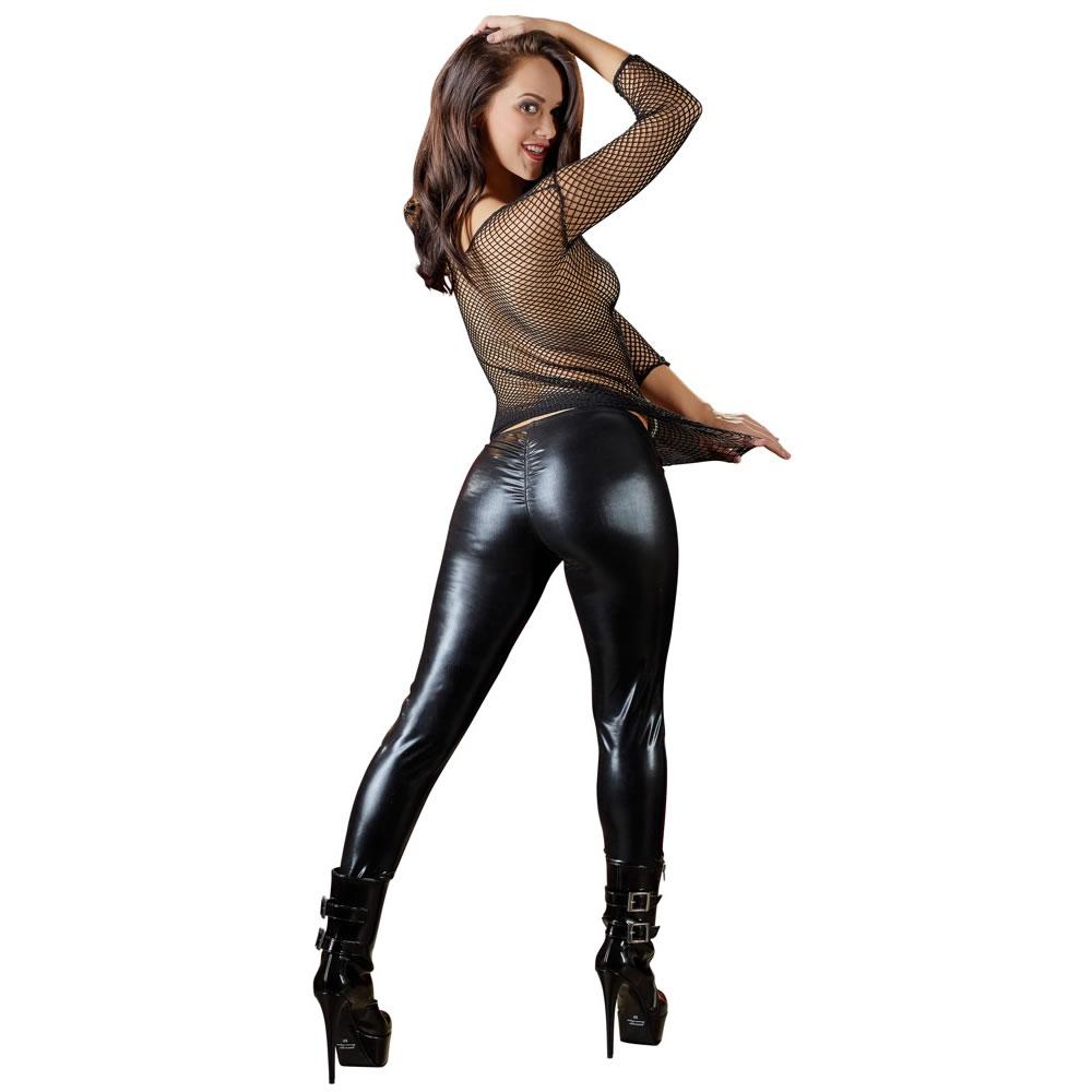 Wet look leggings sex kendra