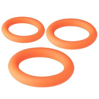 Neon Penisring set med 3 silikone-ringe