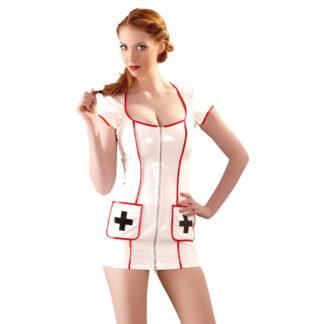 Frækt Sygeplejerske Kostume i Lak