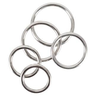 Penisring sæt i Metal med 5 penisringe