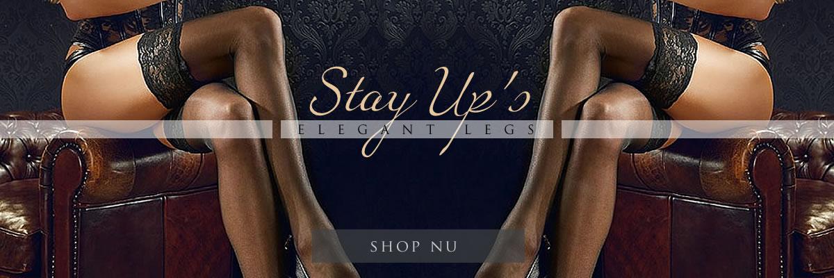 selvsiddende stay-up strømper med blondekant - elegant legs