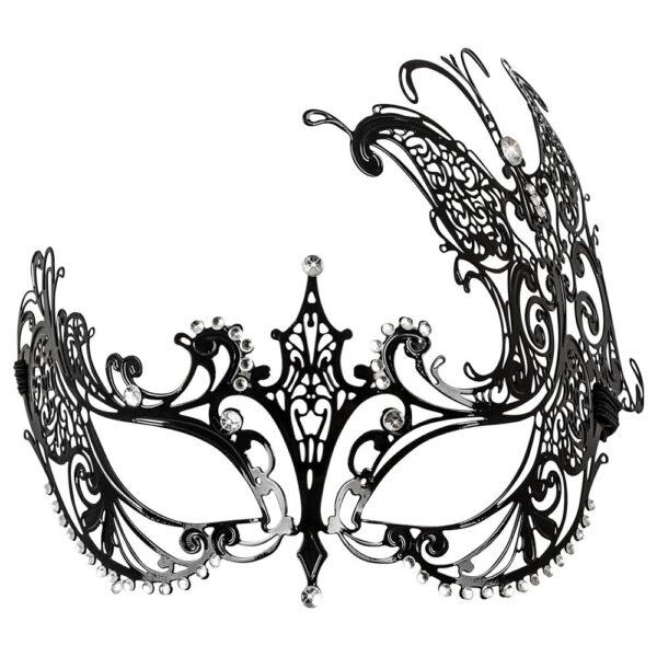 Venetian Metal Øjenmaske med Funklende Sten