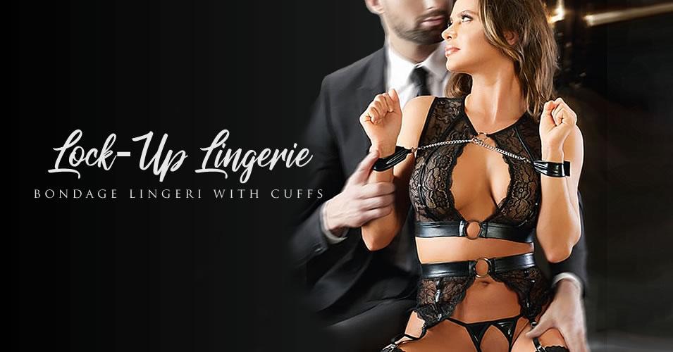 Bondage Lingerisæt med Hofteholder & Lænker - til bedre sexliv