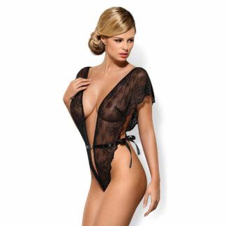 Obsessive Alina Blonde Body med Satinbånd
