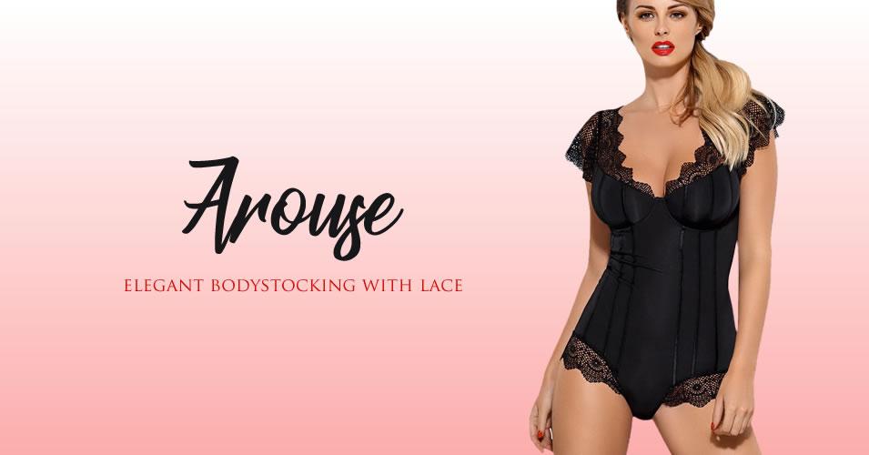 Obsessive Arouse Bodystocking med Blonder