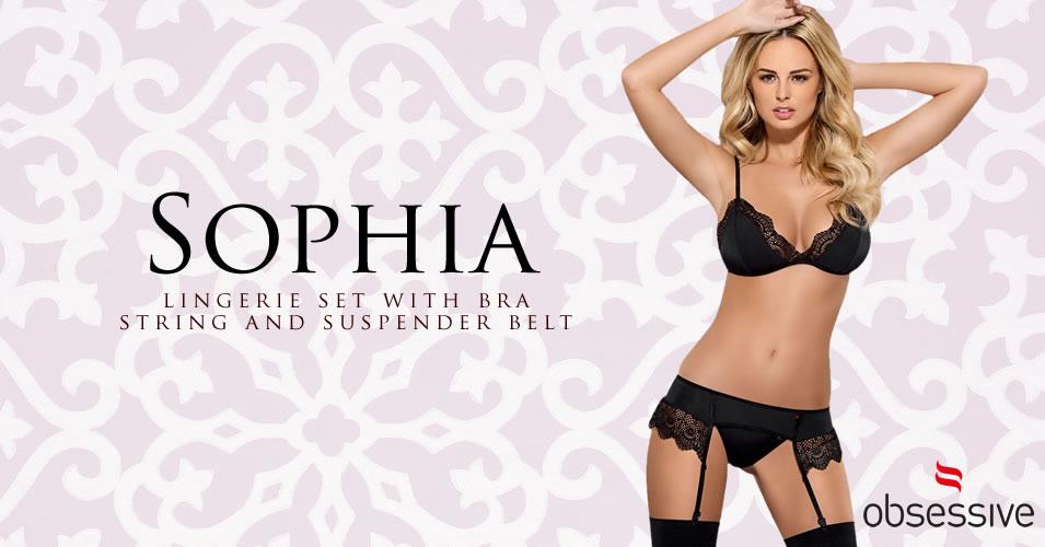 Obsessive Sophia Lingeri sæt med blondekanter