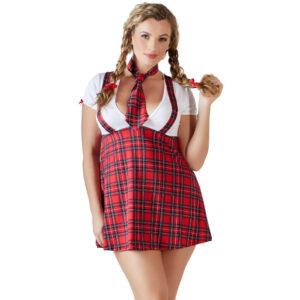 Plus Size Skolepige Kostume