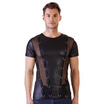 Wetlook Shirt til Herre med Ringe
