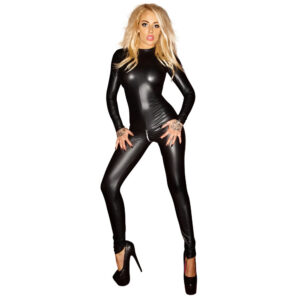 Noir Exclusive Wetlook Jumpsuit heldragt