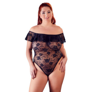 Plus Size Blonde Body med Flæser
