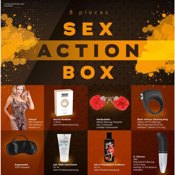 Sex Action Box - Pakke med Sexlegetøj til Frække Par
