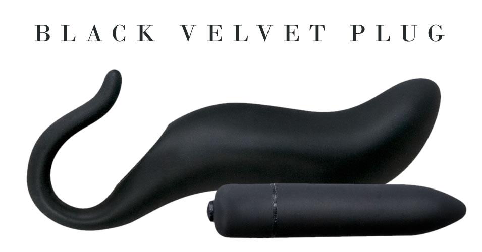 Black Velvet Silikone Anal plug og Sleeve