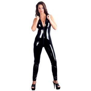 Lak Jumpsuit i Sort