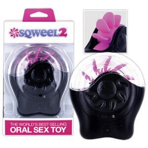 Sqweel 2 Oral Sex Stimulator med Silikone Tunger