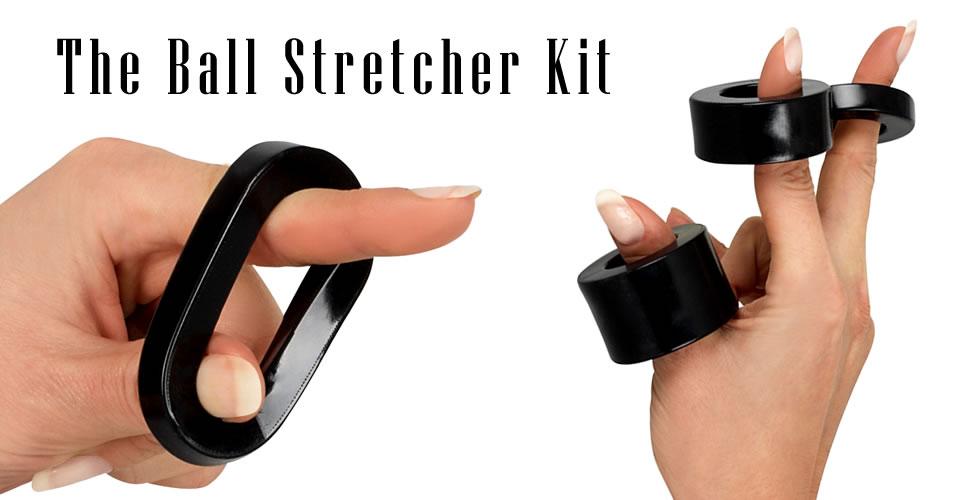 Ball Stretcher i Sort Gummi