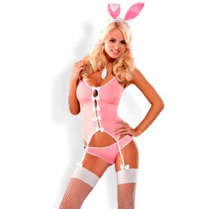 Obsessive Bunny Bustier Kostume i Pink