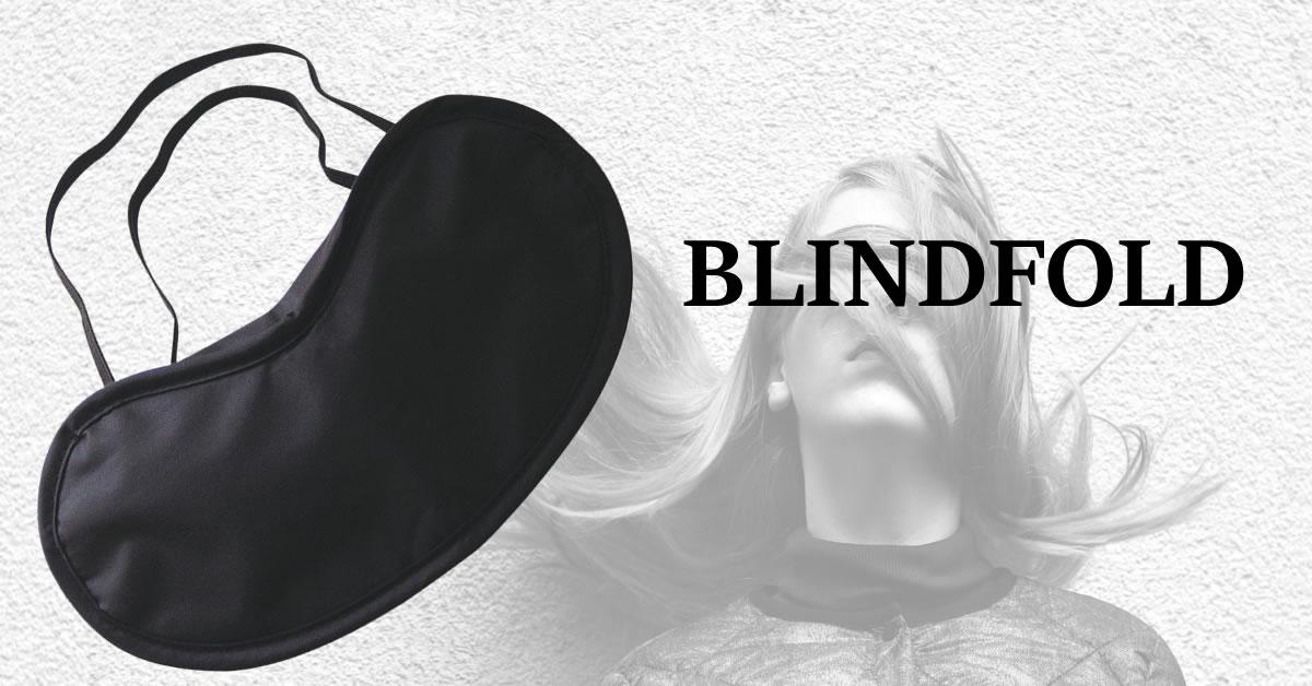 Blind Love blindfold øjenmaske i sort