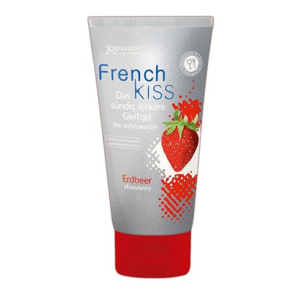 French Kiss Vandbaseret glidecreme med Jordbær Aroma